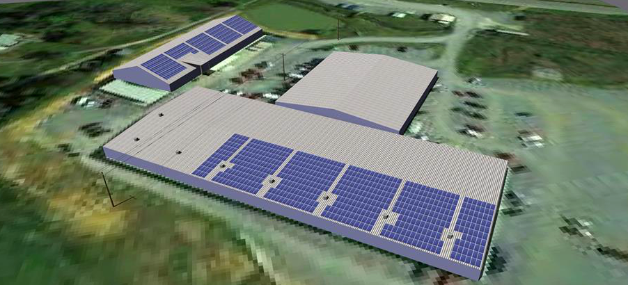 Commercial warehouse Solar Layout