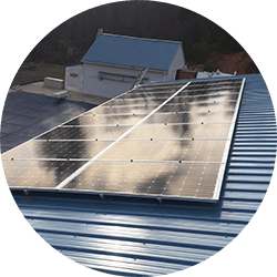 residential solar on metal roof