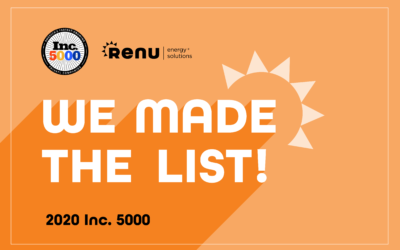 Renu Ranks on the Inc. 5000